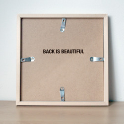 "visual-poetry:  ""back is beautiful"" by anatol knotek"