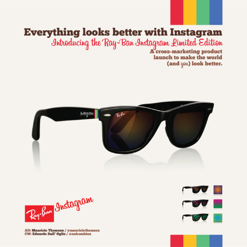 bluepantsdesign:  The Ray Ban Instagram limited edition