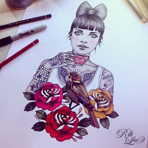 tattoosforpassionnotfashion:  done by rik lee
