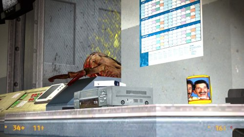 angrydinosaur:  Chuckle Brothers easter egg found in Black Mesa: Source. Thanx @pilchardfish for the screenshot. To me, to you…