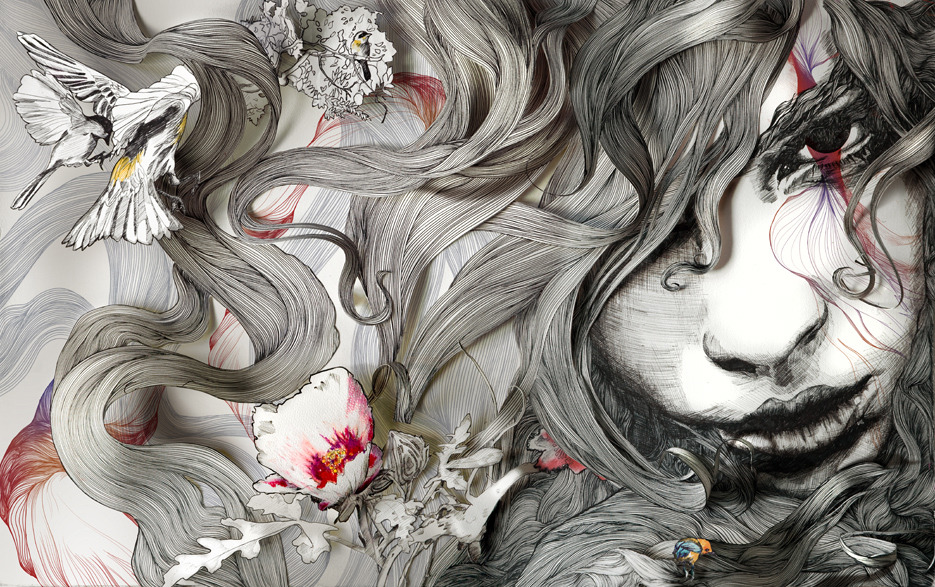 Gabriel Moreno - China (2010) view the process on artist's Facebook (via artchipel:)