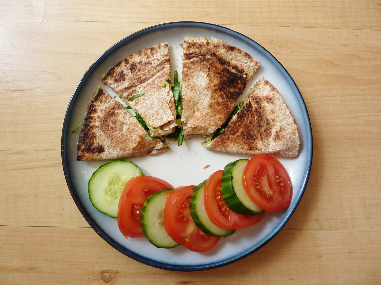 crysthms:  avocado and spinach quesadilla