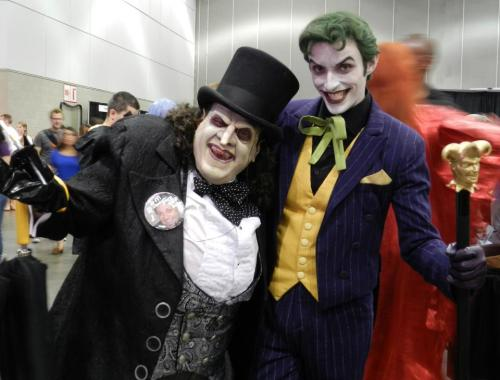Bat-villain cosplay done right  Holy crap, that Penguin is awesome O_O  If I didn't know better, I'd say that was Danny Devito.  I'm done. I'm dead. I'm both.  holy shit that penguin