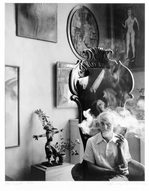 "© Arnold Newman, 1942, Portrait of Max Ernst, New York ""As for myself, I work the way I do because of the kind of person that I am – my work is an expression of myself. It reflects me, my fascination with people, the physical world around us, and the exciting medium in which I work. I do not claim that my way is the best or the only way, it is simply my way. It is an expression of myself, of the way I think and feel."" (Arnold Newman, A Life in Photography) Arnold Newman (1918-2006) is acknowledged as one of the great masters of the 20th and 21st century and his work has changed portraiture. He is recognized as the ""Father of Environmental Portraiture."" (+) ""When the artist finds himself he is lost. The fact that he has succeeded in never finding himself is regarded by Max Ernst as his only lasting achievement."" (Max Ernst) » find more photos of famous people here «"