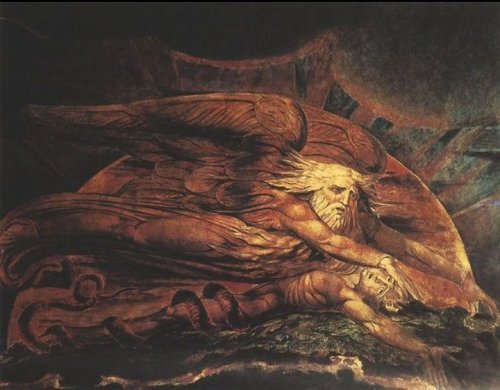 that1randomweirdchick:  Elohim Creating Adam - William Blake.