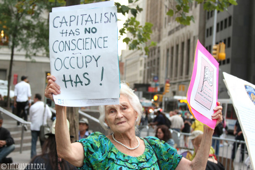 Capitalism Has No Conscience OWS 1 Year Anniversary Protest - Zuccotti Park, NYC More photos from OWS Anniversary Protest.