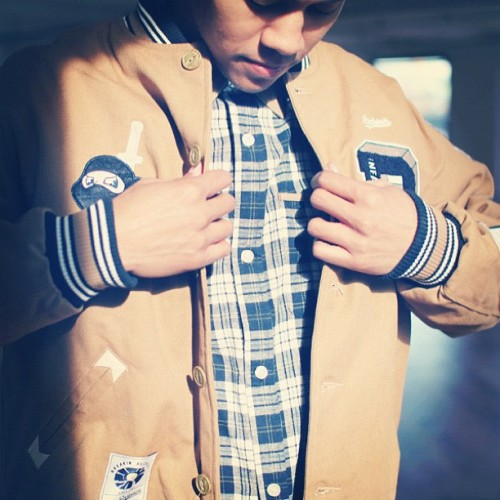 Fall 12. #Ninjas jacket with flannel. #ochre autumn #fashion #rocksmith  (Taken with Instagram)