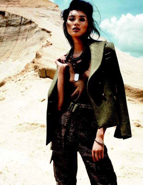 Army Chic | Ming Xi | Benny Horne #photography| Vogue China September 2012