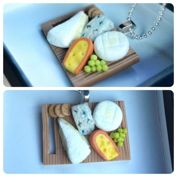 Cheese platter pendant! A commission for a birthday gift (Taken with Instagram)