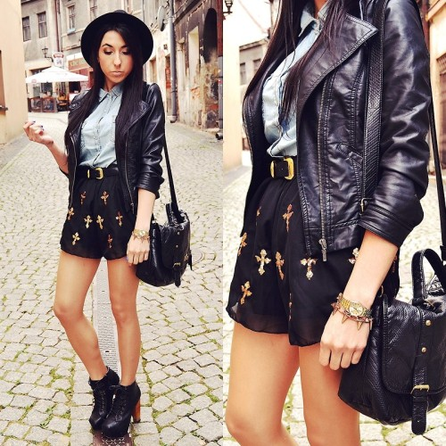 lookbookdotnu:  Cross shorts (by Pam S)