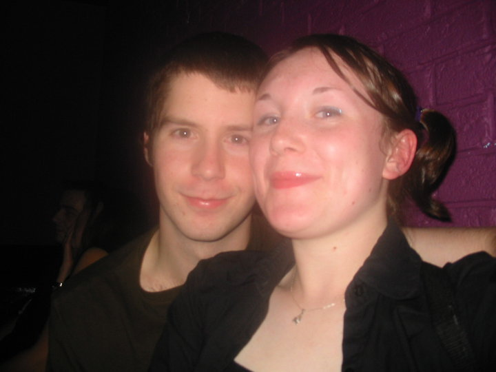 See this…this is a photo from 10 years ago. This is what Katie and I looked like 10 years ago.This is a photo from the night Katie and I started going out, September 23rd 2002 ( well, 22nd into 23rd…but we call it the 23rd, because it was after night-clubbing that I asked her to be mine. Which was waaaaay after midnight )Now, some people, go out with each other, and then break up, and then get back together again. Katie and I….we've been together, solid, contiguous, unbroken for 10 years.10 years of stories and injokes and laughs and misunderstandings and harvest moon and halloweens and friends and cakes and burlesque and that-one-time-we-tried-to-make-sushi-at-home and moving houses and starting a family and planning our wedding.That's not too shabby, if you ask me.