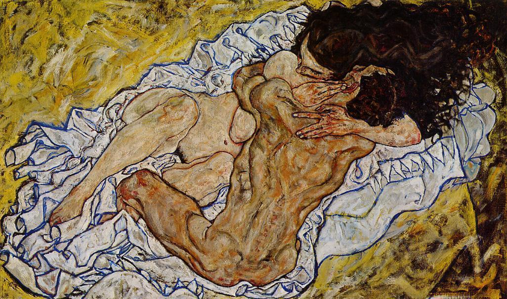 nudewave:  Egon Schiele, The Embrace, 1917