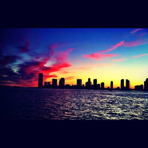 West side highway sunset, NYC (Taken with Instagram)