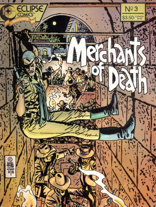 docshaner:  Alex Toth, Merchants of Death. I'd never seen this one before this morning but I really dig it. Via Michael Sporn.  Wow.
