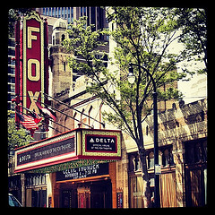 Famous Fox Theatre of Atlanta by MG Green What is Atlanta without the ICONIC Fox Theater? The Fox Theatre or the  Fabulous Fox is located at 660 Peachtree Street NE in Midtown Atlanta. Did you know that the Fox was originally planned as part of a large Yaarab SHRINE Temple? source Thankfully the 4,678 seat auditorium was eventually developed as a lavish movie theater by the Fox Theater chain. Really where else would you have had the GRAND opening for Gone With The Wind? Seriously?  .