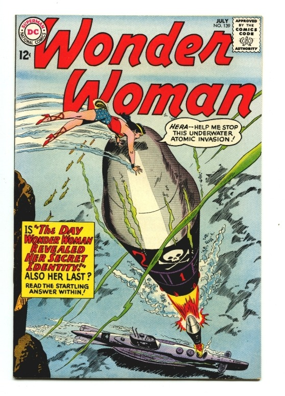 in-sequence:  Wonder Woman #139, 1963. Cover by Ross Andru