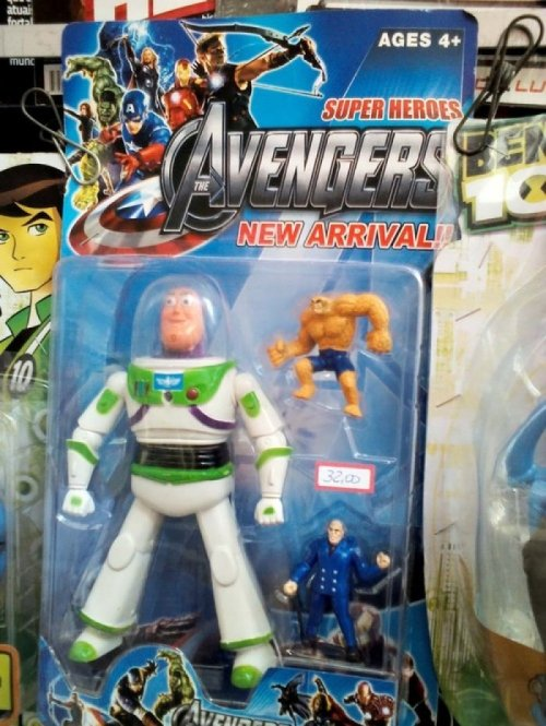 Buzz Lightyear In the Avengers? In retrospect, that brief scene in the movie between Thor and Woody was actually pretty weird too.