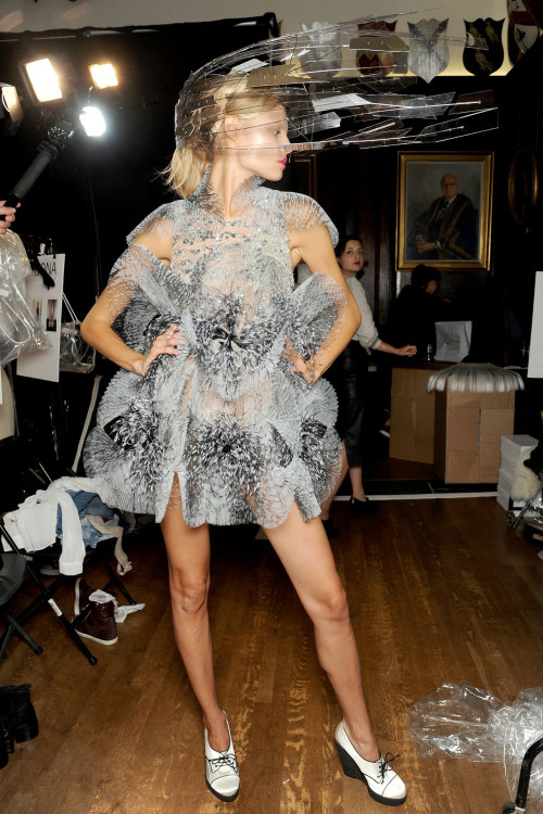 Magdalena backstage at Giles.