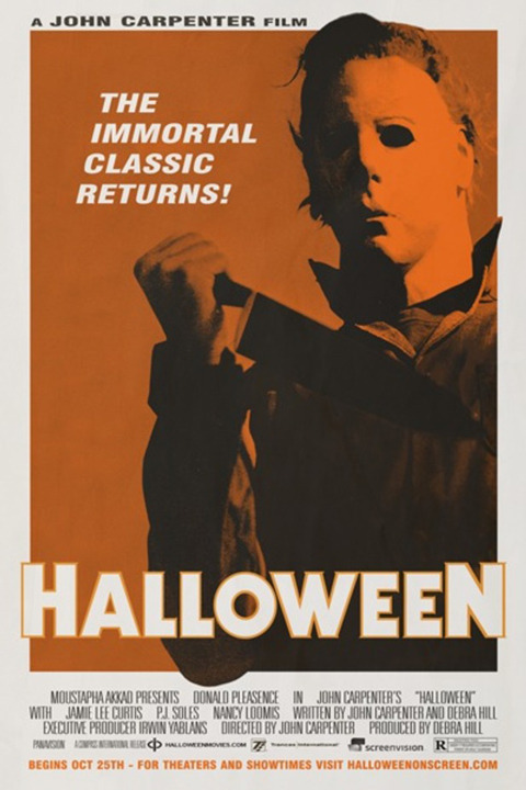 The new poster for this fall's re-release of John Carpenter's Halloween.