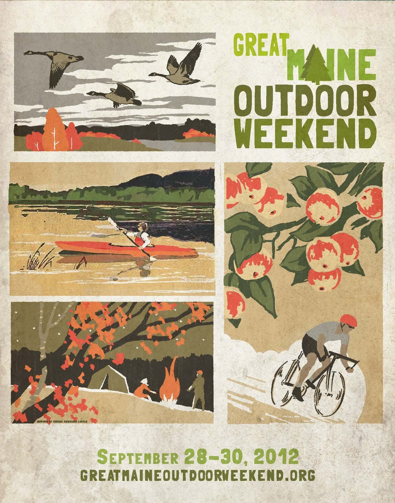 llbeanpr:  Great Maine Outdoor Weekend 2012 - Poster art created by Maine Artist and L.L.Bean Graphic Designer Peter Selmayr
