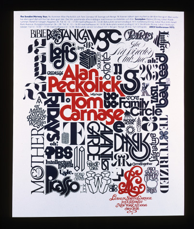 Herb Lubalin, Alan Peckolick and Tom Carnase tour poster, 1975 via Herb Lubalin Study Center