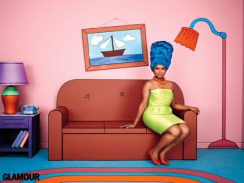 flavorpill:  Mindy Kaling as Marge Simpson
