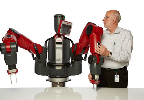 Baxter, an industrial robot from Rethink Robotics that costs just $22,000, could be your new work buddy in the future. It doesn't pay taxes, either, so I'm guessing Baxter's not a big Mitt Romney supporter. (via How Rethink Robotics Built Its New Baxter Robot Worker - IEEE Spectrum)