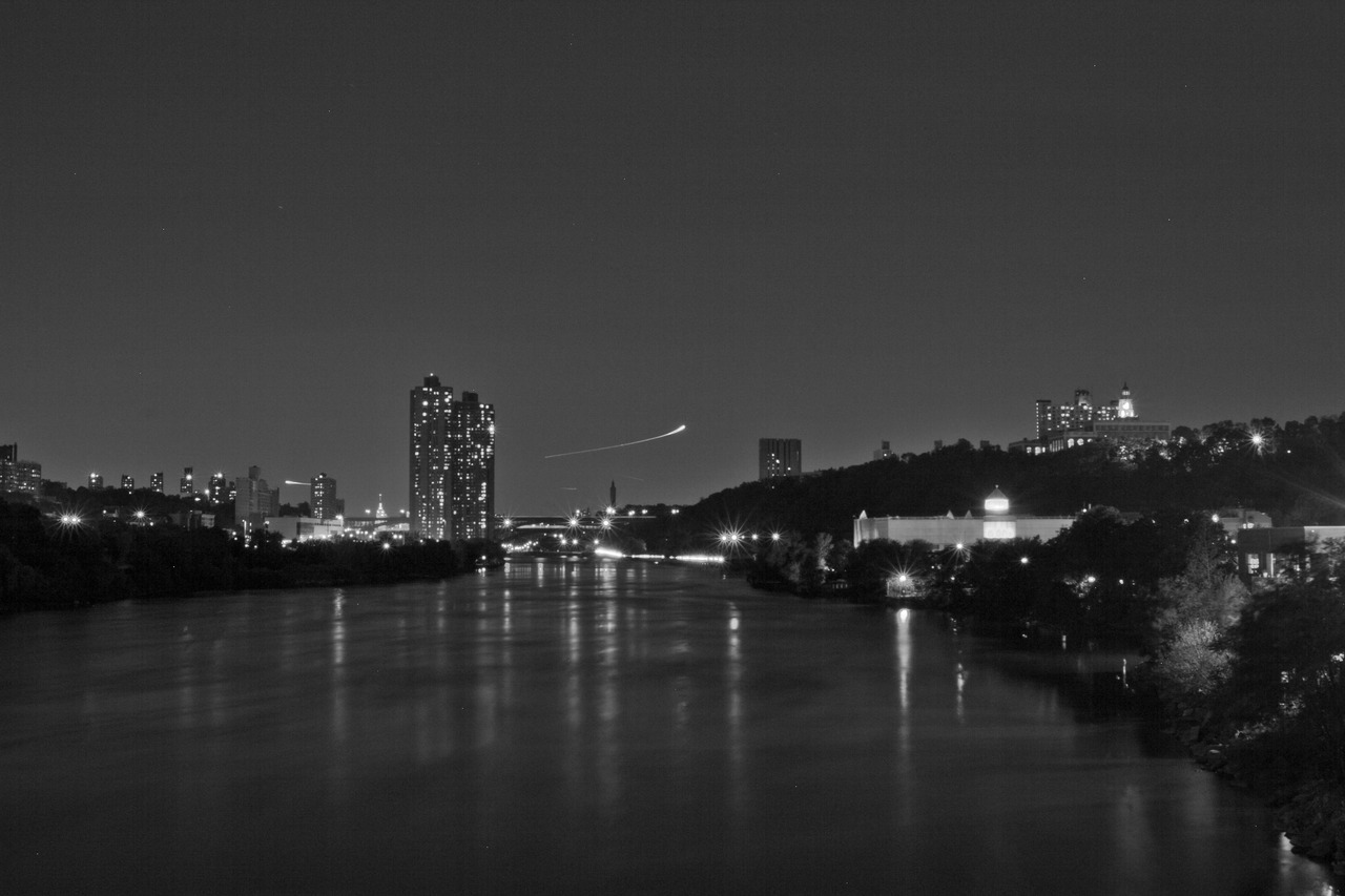 Uptown And The Bronx (Black And White) University Heights Bridge
