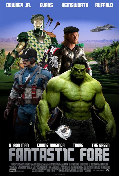 robert downey jr iron man tony stark The Avengers Captain America Chris Evans Chris Hemsworth Thor Marvel avengers hulk Superhero golf bruce banner mark ruffalo AVENGERS ASSEMBLE