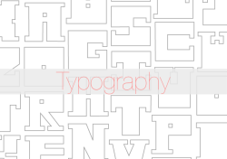 Typography Typefaces inspired by architecture and fashion.  A type can really determine what type of message a piece of work wants to send out and having a growing passion for typography I occasionally design my own to appear in projects I am working on.