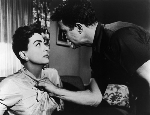 Autumn Leaves. Joan with Cliff Robertson.