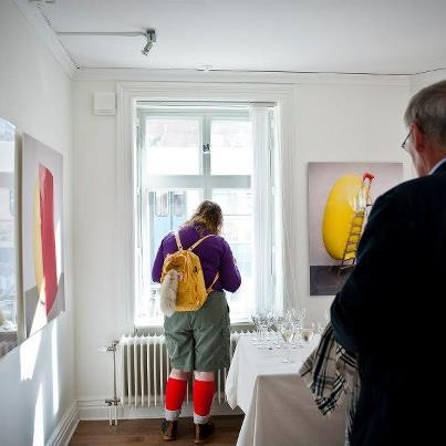 Hans Hemmert at Nextart Bookshop & Gallery, photo by AnnaCarin Isaksson