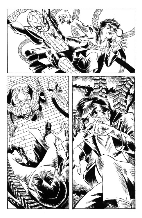 Spider-Man ink demonstration Page 4  Earl Barrett-Holloway