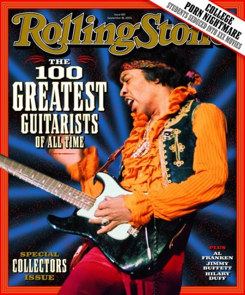 Rolling Stone, September 20, 2003Today is the 42nd anniversary of the death of Jimi Hendrix. See 20 great Hendrix magazine covers here.