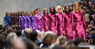 Metallic takes over at Burberry