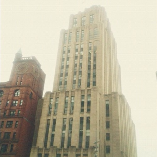 A beautiful, tall art deco building in Montreal (Taken with Instagram at Place d'Armes) Frankie Thompson | asthebirdfliesblog.com