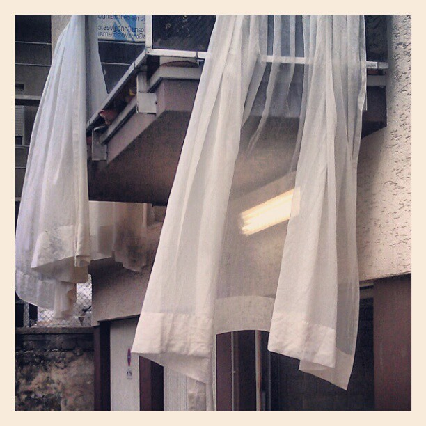 #wind #drapes #light #balcony (Taken with Instagram)