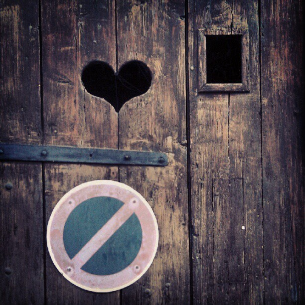 #heart #door #forbidden #wood #window  (Taken with Instagram)