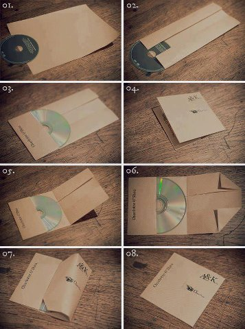 theamericankid:  Easier way to make a CD case from a single piece of paper  > This would've been so useful 10 years ago.