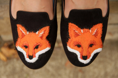 DIY Fox Slippers