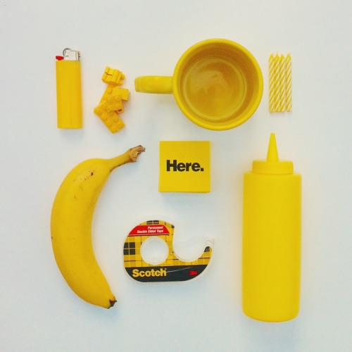 thingsorganizedneatly:  SUBMISSION: Yellow Objects by David Schwen.