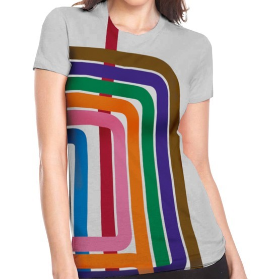 ataxiwardance:  neighborhoodr-chicago:  jasmined:  Fab.com | Loop Stripe Tee Women's Gray  There is also a version for dudes.  MUST ACQUIRE.   More Chicago goodness. The Loop makes a striking T-shirt design, although I wish the corner curves were nested properly with each other.