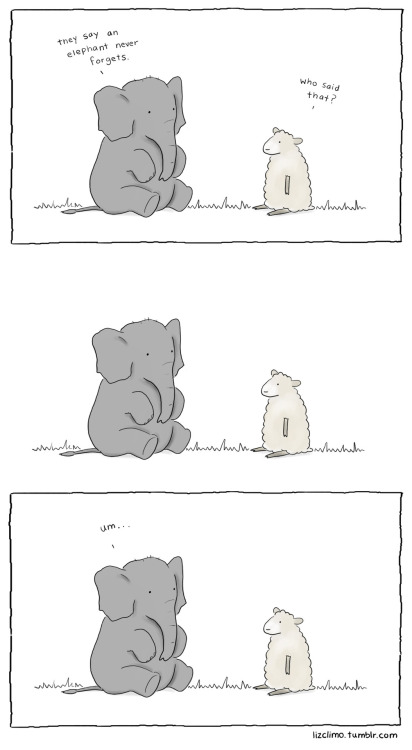 tastefullyoffensive:  lizclimo: An elephant almost never forgets