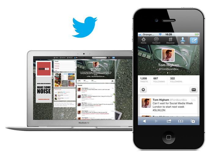 "Have you uploaded your new Twitter header yet? Following in Facebook's footsteps, Twitter has introduced header images so that your brand can keep a consistent look across computers, mobile and tablet devices. The Twitter iPad app has also been updated today. ""Expand Tweets with a single touch to see beautiful photos, rich videos and web page summaries right in your timeline. Dive into the content with another tap to see the photo, play the video or read links from the web in fullscreen mode."" Let us know what you think of the updates, and if you need help in creating a new header image or graphics for your Twitter account then please get in touch. You can follow Boombox on Twitter via @tomboombox."