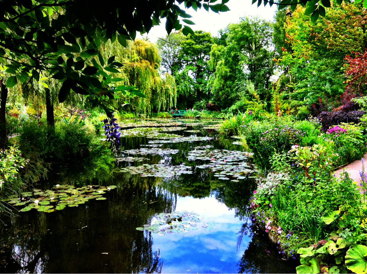 Almost doesn't seem real, no?  Claude Monet's garden; Giverny, France