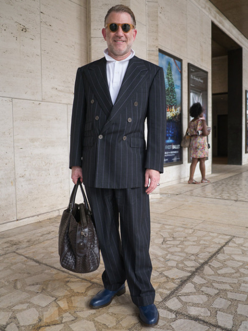 Jonathan, Lincoln Center, NYC. Bottaga Duffle. Read more here