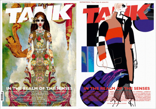 Tank Magazine cover illustrations by Christian Lacroix