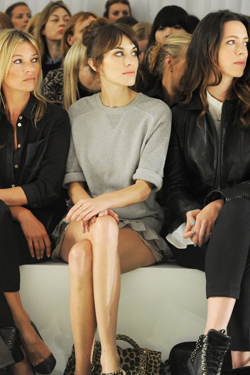 September 18 2012 - Kate Moss, Alexa Chung and Rebecca Hall on the front row at Mulberry.