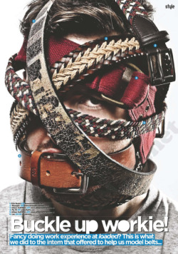 Loaded Magazine - June 2012 issue Easter break was my first opportunity to work with a magazine. At Loaded I worked closely with the editorial, features, fashion and photography teams. I was responsible for several tasks which resulted in some of my designs being published within the June issue this year.