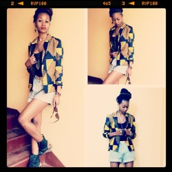 tanyanefe:  †Φ▲Tanya Nefertari▲Φ†  Abstract Print Blazer